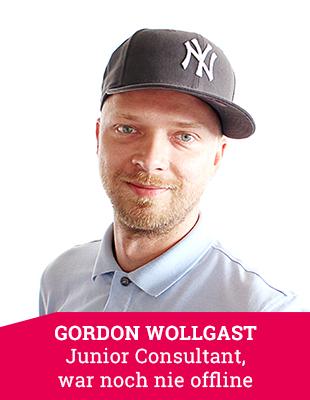 Junior Consultant Gordon Wollgast