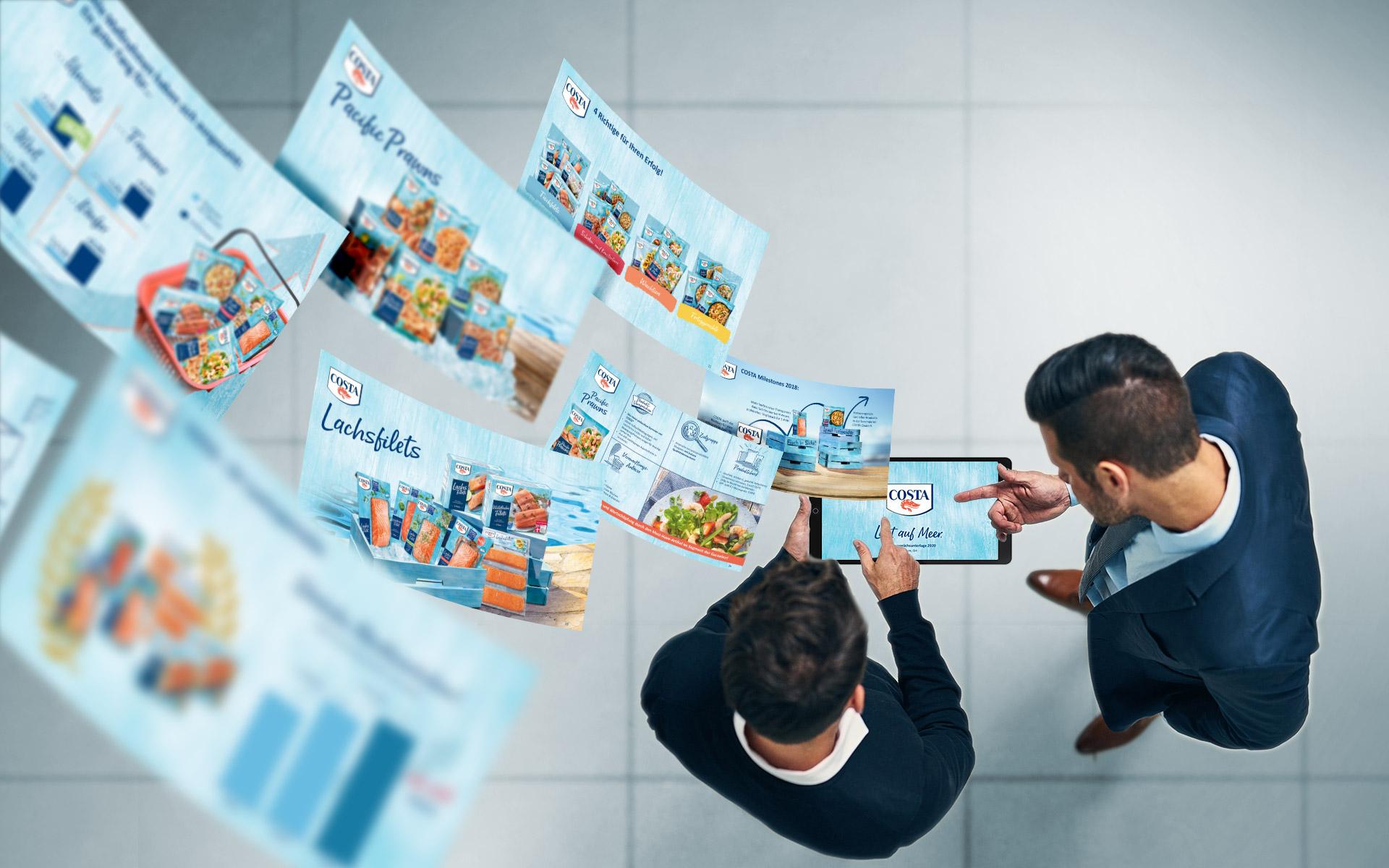 Collage Costa TK Fisch- und Meeresfrüchte Anzeigen digital