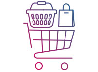 Grafik eines Einkaufswagen