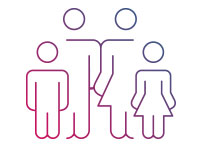 Grafik einer Familie