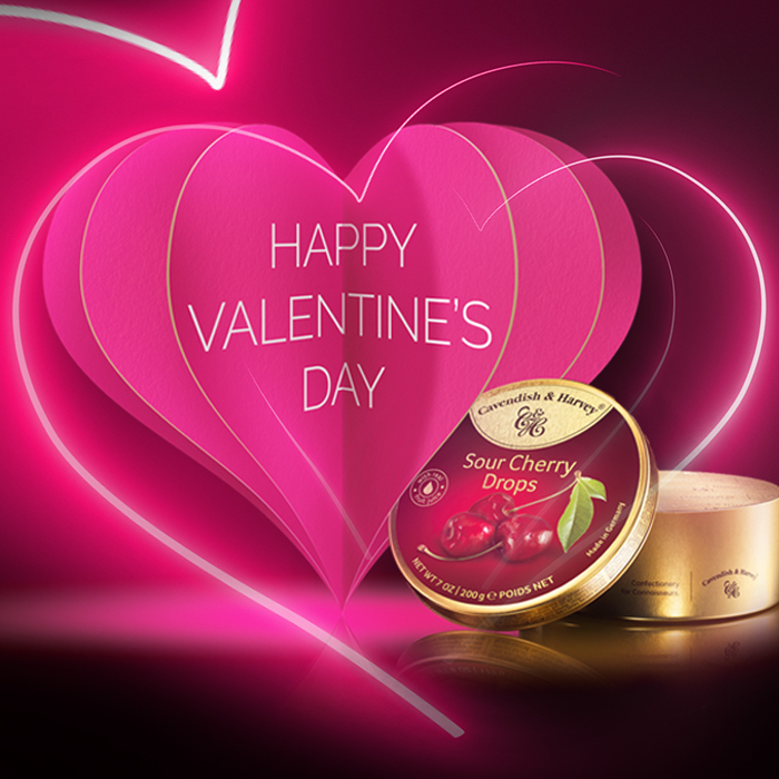 Nahaufnahme Cavendish & Harvey Keyvisual zum Valentinstag